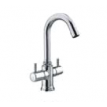 Quarter Turn Faucets- Central Hole Basin mixer with 50cm Braided Hose- A-804