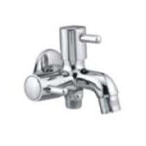 Quarter Turn Faucets- Two Way Bib Cock with wall flange-  A-809