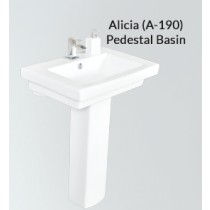 Ceramic Pedestal Wash Basin-Alicia-PX-A-190
