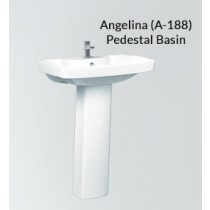 Ceramic Pedestal Wash Basin-Angelina-PX-A-188