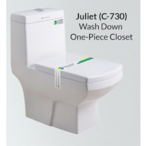 One Piece Wash Down Water Closet - C-730