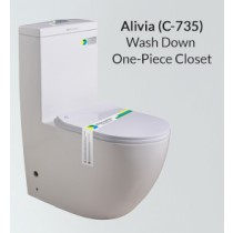 One Piece Wash Down Water Closet - C-735