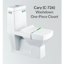 One Piece Wash Down Water Closet - C-726