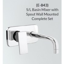 S/L Basin Mixer with Spout Wall Mounted Complete Set E-843