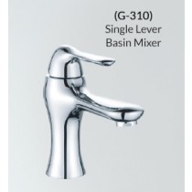 Single Lever Basin Mixer With 500mm Long Braided Hoses G-310