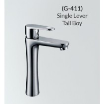 Basin Faucet Single Lever Tall Boy With 500mm Long Braided Hoses G-411
