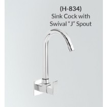 Sink Cock with Swivel 'J' Spout - H-834