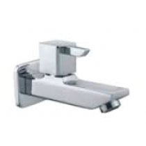 Quarter Turn Faucets- Bib Cock Long Body with Wall Flange - L841