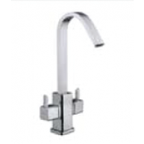 Quarter Turn Faucets- Central Hole Basin mixer with 50cm Braided Hose- L843