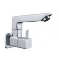 Quarter Turn Faucets- Sink Cock wall mounted with swivel spout and wall flange- L845
