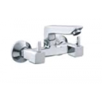 Quarter Turn Faucets- Sink Mixer wall mounted with swivel spout and wall flange- L846