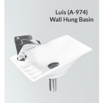 Ceramic Wall Hung Wash Basin- Sierra Luis PX(A-974)