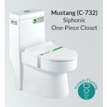 Siphonic One Piece Closet - Mustang - PX(C-732)