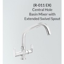 Central Hole Basin mixer with Extended Swivel Spout